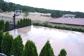 Basketball Court In Backyard Cost by 8 Easy Steps To Build A Home Basketball Court