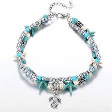 beaded ankle bracelet images Beaded ankle bracelets beach jewelry surewaydm free shipping jpg