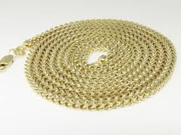 brand gold necklace images Brand new real 10k yellow gold franco box cuban chain necklace 3 0 jpg