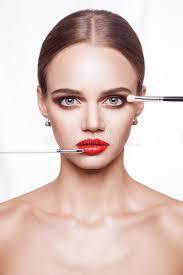 professional makeup artist professional makeup artist applies makeup for beautiful