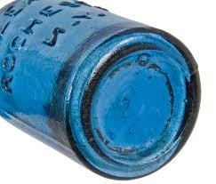 original mid nineteenth century crude vibrant sapphire blue soda