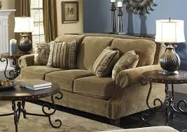 traditional living room with chenille sofas soft and comfortable