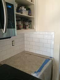 how to install subway tile kitchen backsplash how to install subway tile backsplash corners tile designs