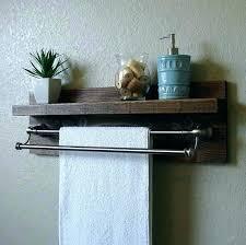 Bathroom Shelves With Towel Rack Towel Bar With Shelf Bathroom Shelf With Towel Bar Brushed Nickel