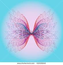 abstract butterfly pattern grid 3d pattern stock vector 416506846