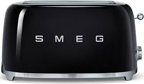 smeg tsf02bluk black retro style 4 slice toaster