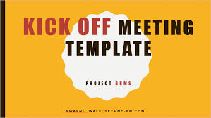 kick off meeting presentation template project kickoff meeting