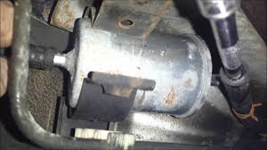 2001 isuzu rodeo fuel filter replacement youtube