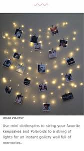 String Of Fairy Lights by Fairy Lights And Polaroids College Pinterest