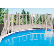 above ground swimming pool fence and deck kits