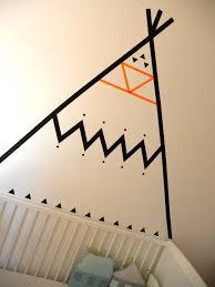 Washi Tape Wall Designs by Maskingtape Idee Maak Een Tipi Op De Muur Met Washitape