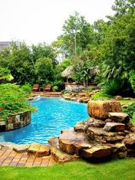 Pool Landscaping Ideas Pools Elegant Violin Shaped Pool Landscaping Ideas With Colorful