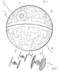 death star tie fighters coloring free printable