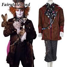Halloween Costumes Alice Wonderland Aliexpress Buy Alice Wonderland Mad Hatter Cosplay