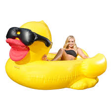 Inflatable Pool Floats by Game Giant Inflatable Floating Riding Derby Duck Pool Float Lounge