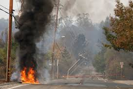 Wildfire Jumps California Freeway Torches Cars by Editorial Wine Country Fire Demands Thorough Investigation
