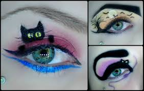 3 halloween eye art makeup 30 days of halloween youtube