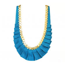 blue necklace images Emerald peacock blue designer silk necklace jpg