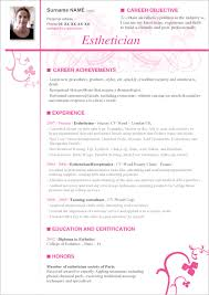 esthetician resume templates resume cv cover letter example