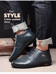 lace up casual shoes men u0027s winter boots with short plush fashion