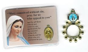 free rosaries free medallions our of grace finger rosaries from italy