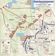 Kennesaw State Map Civil War Battle Maps The Battle Of Corinth October 4th