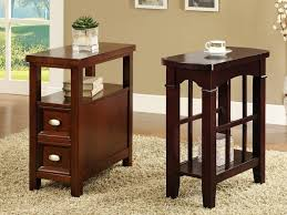 Storage Side Table by Coffee Table Narrow Coffee Table With Storage Intended For