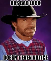 Bad Fashion Meme - bad luck chuck norris imgflip
