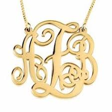 2 Inch Monogram Necklace Free Shipping 2 Inch Monogram Necklace 18k Gold Plated By Chictags