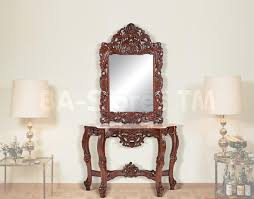 hallway table and mirror sets console table design hall console table and mirror set from bombay