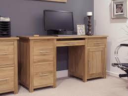 Oak Computer Desks Uk Solid Oak Computer Desk Oak Home Office Furniture Nu Trend