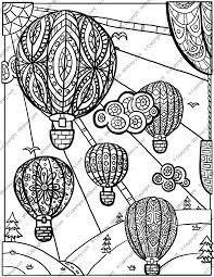 air balloon coloring pages coloring page