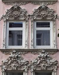 plaster rococo window and modern