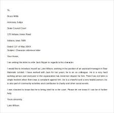 character recommendation letter best business