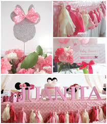 minnie mouse baby shower decorations minnie mouse baby shower via kara s party ideas cake decor