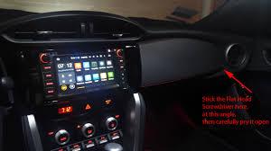 subaru brz custom interior diy aftermarket hu install on 2017 brz scion fr s forum