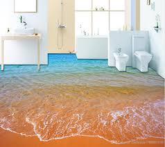 3d bathroom flooring top classic 3d european style beach waves 3d bathroom floor