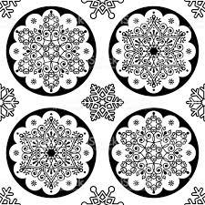 black and white christmas wrapping paper scandinavian christmas vector folk pattern snowflake mandala