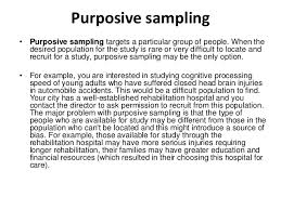 ask the experts convenience sampling research