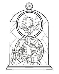 beauty beast stained glass idea colour coming