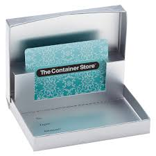 matte silver gift card box the container store