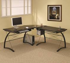 Black Tempered Glass Computer Desk Furniture Home Office Furniture Black Tempered Glass Computer