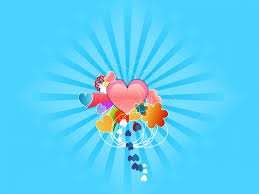 heart design for powerpoint hearts with blue rays ppt backgrounds blue design love templates