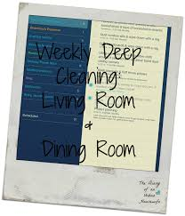organization weekly deep cleaning living room and dining room