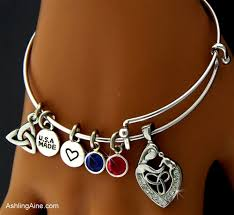 s bracelet birthstones a celtic s birthstone charm bangle