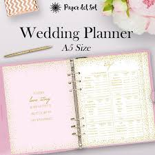 wedding planner binder filofax wedding planner printable a5 wedding planner binder