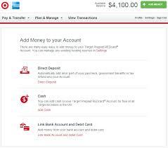 direct deposit card target redbird add money with direct deposit