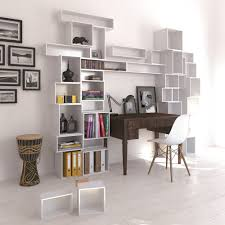 cheap office room storage design with white ikea hemnes bookcase