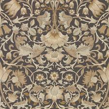 pure lodden wallpaper charcoal gold 216027 william morris