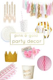 pink and gold party supplies pink gold party decor and accessories
